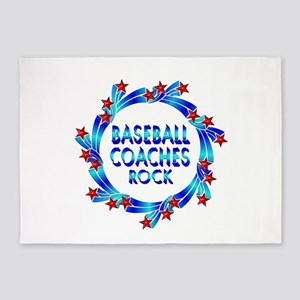 Baseball Coaches Rock 5'x7'Area Rug