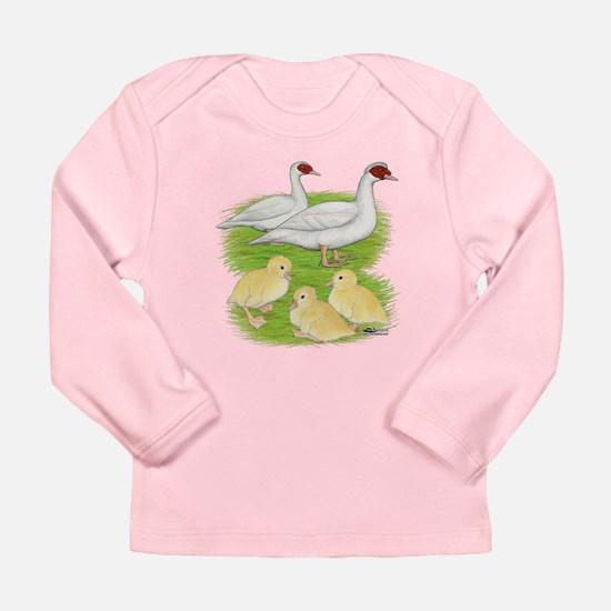 Duck White Muscovy Family Long Sleeve T-Shirt