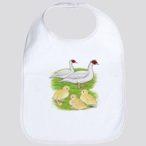 Duck White Muscovy Family Baby Bib