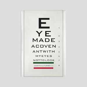 Jobs Eye Chart Rectangle Magnet