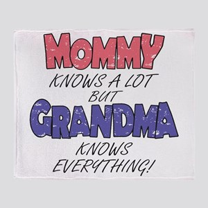 Grandma Knows Everything Throw Blanket