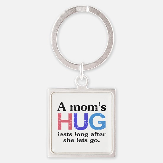 A Moms Hug Square Keychain