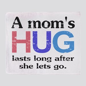 A Moms Hug Throw Blanket