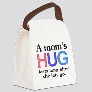 A Moms Hug Canvas Lunch Bag
