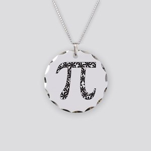 Floral Pi Necklace Circle Charm