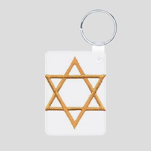 Star of David for Passover Aluminum Photo Keychain