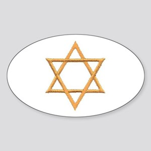 Star of David for Passover Sticker (Oval)