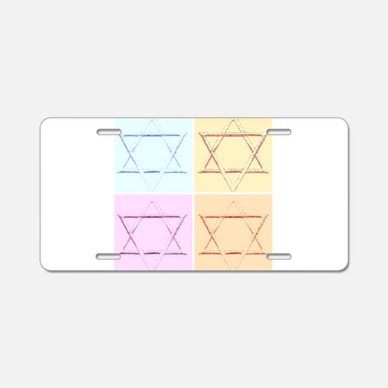 Star of David for Passover Aluminum License Plate