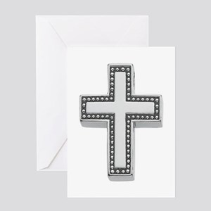Silver Cross/Christian Greeting Card