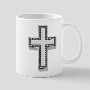 Silver Cross/Christian Mug