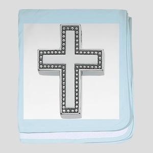 Silver Cross/Christian baby blanket