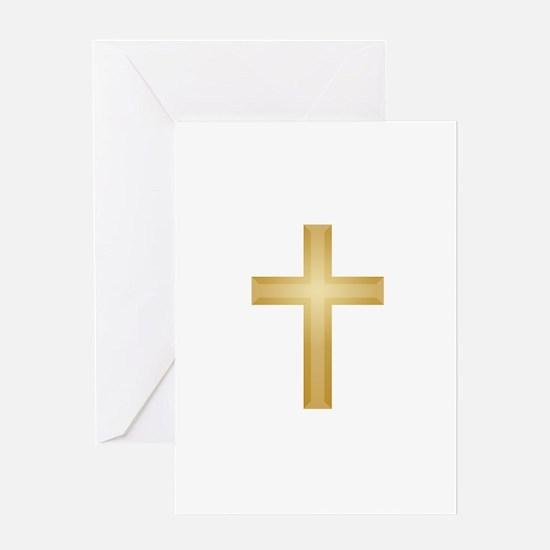 Gold Cross/Christian Greeting Card