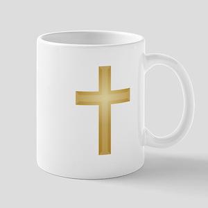 Gold Cross/Christian Mug