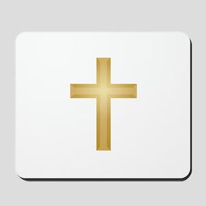 Gold Cross/Christian Mousepad