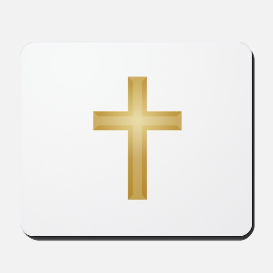 Gold Cross/Christian Mousepad