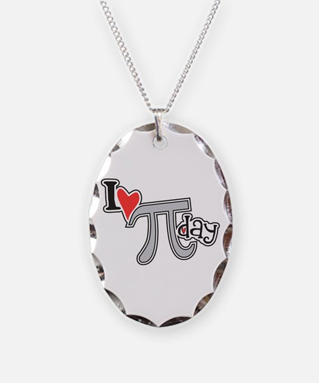 I heart (love) Pi Day Necklace
