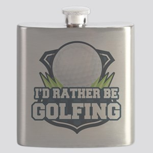 Rather Be Golfing Flask