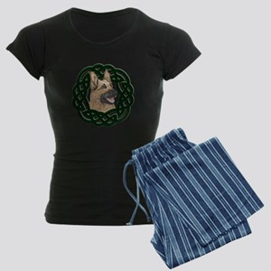 Celtic German Shepherd Women's Dark Pajamas