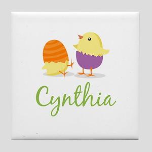 Easter Chick Cynthia Tile Coaster