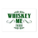 Whiskey Me I Am Irish Postcards (Package of 8)