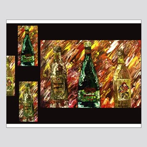 Wine Collage Small Poster