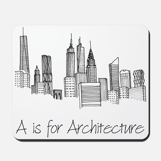A is for Architecture Skyline Mousepad