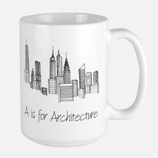 A is for Architecture Skyline Mug