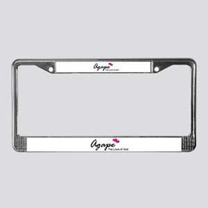Agape Love License Plate Frame