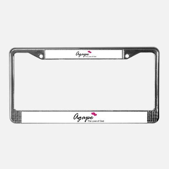 Agape Love License Plate Frame