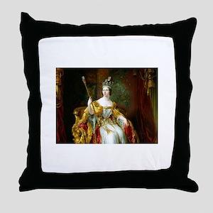 England Queen Victoria Throw Pillow
