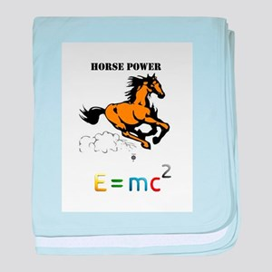 GALLOPING HORSE POWER E=MC2 baby blanket