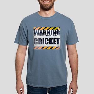 Warning: Cricket Mens Comfort Colors Shirt