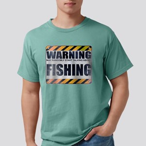Warning: Fishing Mens Comfort Colors Shirt