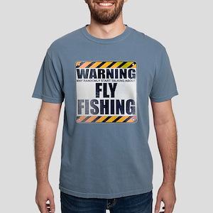 Warning: Fly Fishing Mens Comfort Colors Shirt