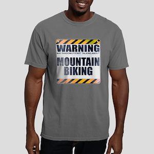 Warning: Mountain Biking Mens Comfort Colors Shirt