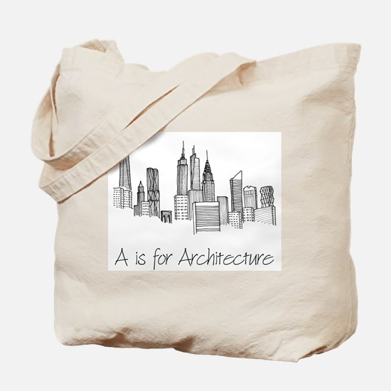 A is for Architecture Tote Bag