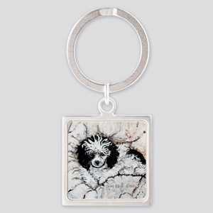 Toy Poodle Square Keychain