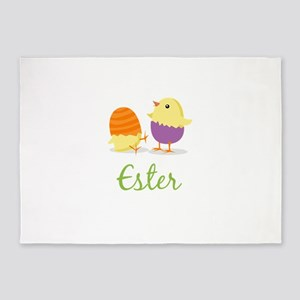 Easter Chick Ester 5'x7'Area Rug