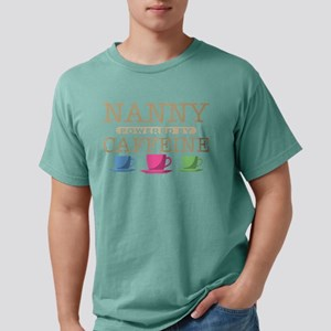Nanny Powered by Caffeine Mens Comfort Colors Shir