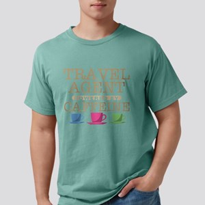 Travel Agent Powered by Caffeine Mens Comfort Colo
