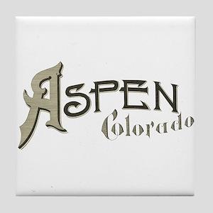 Aspen Colorado Tile Coaster