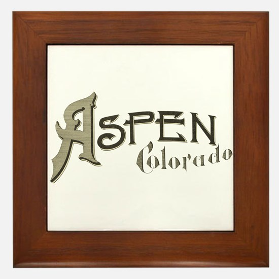 Aspen Colorado Framed Tile