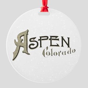 Aspen Colorado Round Ornament