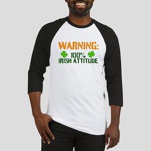 Warning: 100% Irish Attitude Baseball Jersey