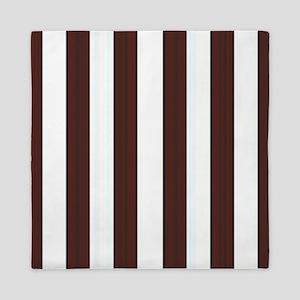 Dark brown and white stripes Queen Duvet