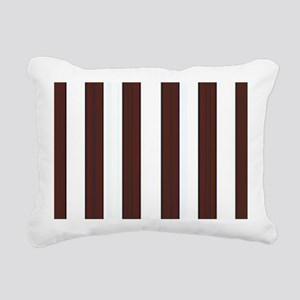 Dark brown and white stripes Rectangular Canvas Pi