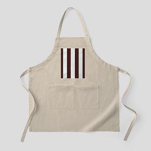 Dark brown and white stripes Apron