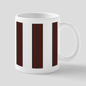 Dark brown and white stripes Mug