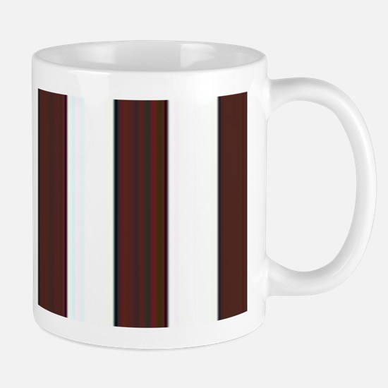 Dark brown and white stripes Mug