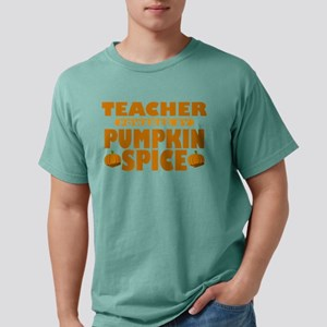 Teacher Powered by Pumpkin Spice Mens Comfort Colo